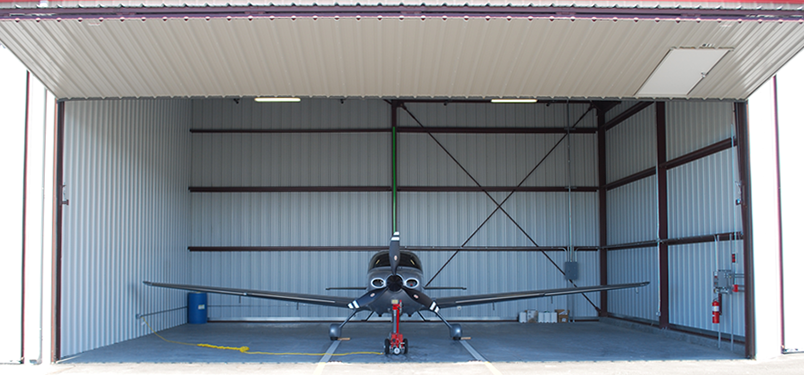Hayward Hangars - Airplane in Hangar