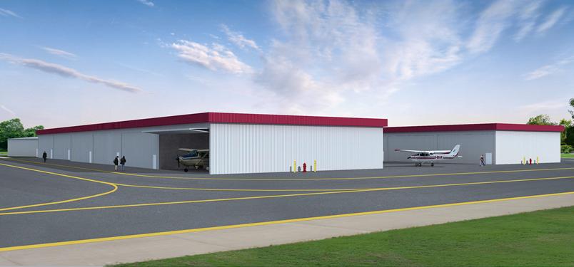 Hayward Hangars - Airplane Hangar Rendering